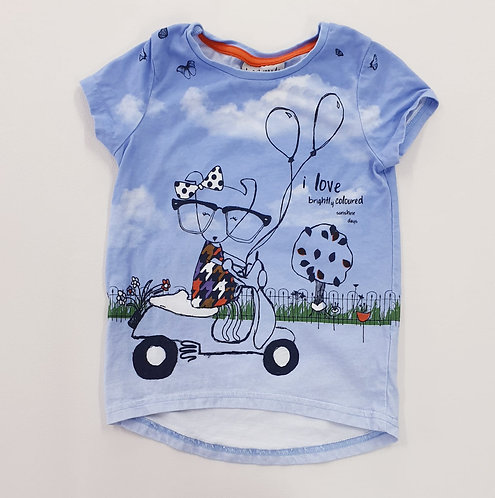 🦚Next blue doggy on moped T-shirt. 1½-2yrs
