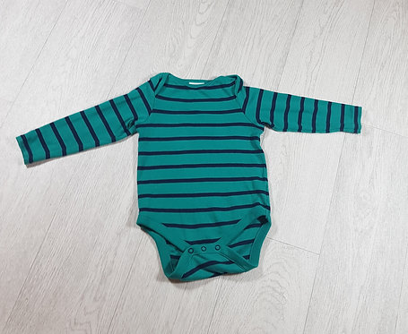 🐠Next boys long sleeved blue and green striped vest size 12-18 months