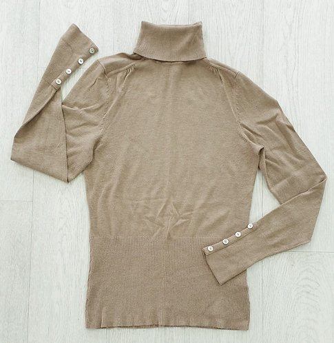 John Lewis Beige turtle neck sweater. Uk 8
