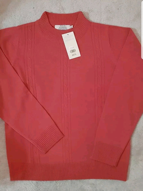 Honor Milburn Edinburgh mill. Coral Red/Pink jumper. With tags. Size 10-12.