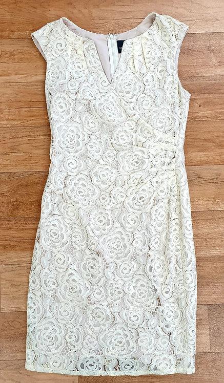 Adrianna Papell ivory lace dress. Uk 12/ Eu 40