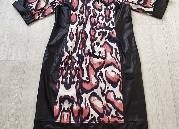 Behcetti leather look dress. Size 14