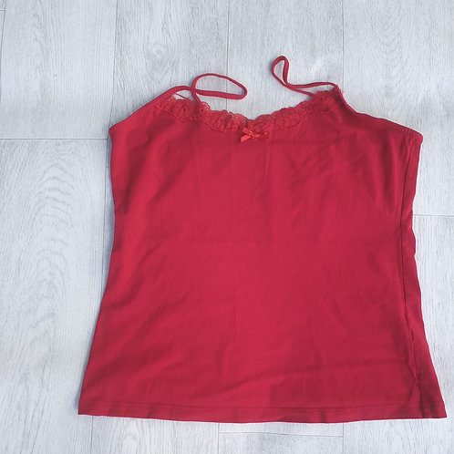 ⭐George red vest top. 12-14