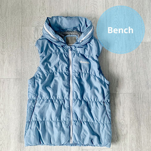 Bench blue gilet with fold out hood. Size L