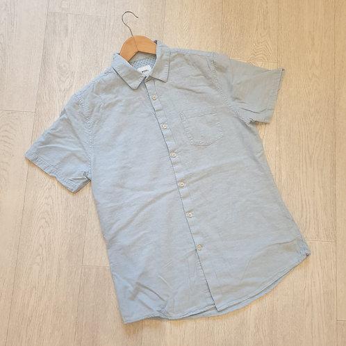 👔Burton pale blue linen shirt. Size M