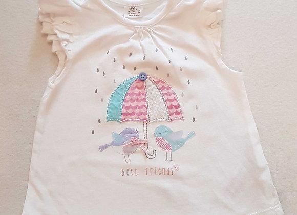 F&F Birdie t-shirt. Up to 3months
