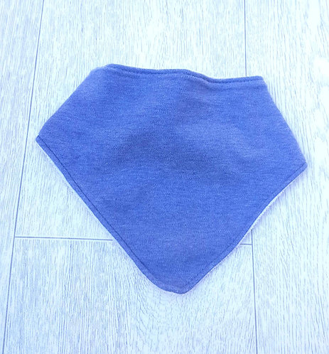 F&F blue toweling backed dribble bib. One size