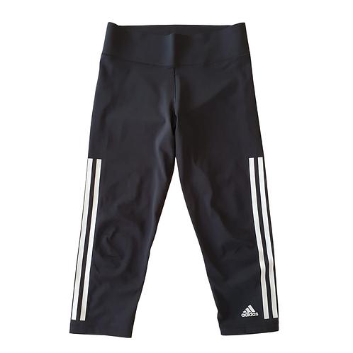 Adidas black cropped leggings. Uk 8-10
