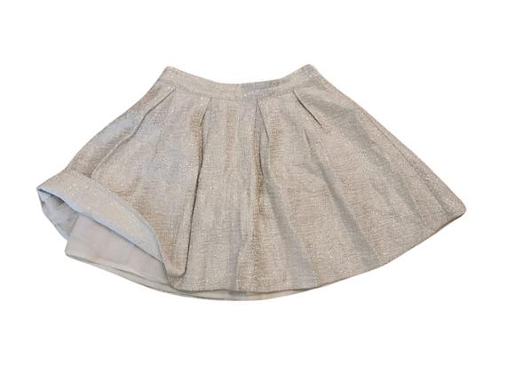 Dunnes silver skirt. 10yrs