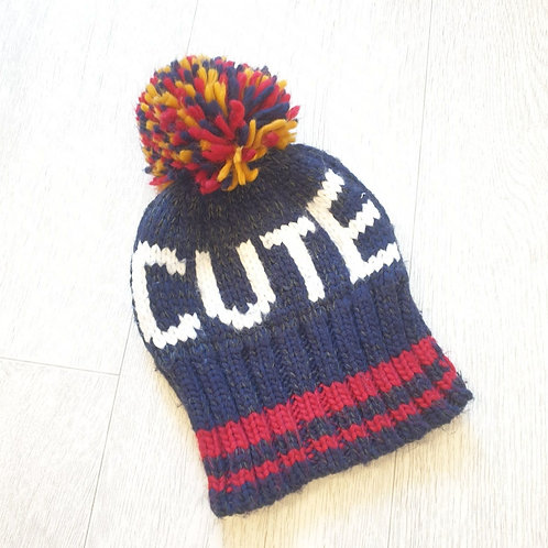 🧩Early Days cute bobble hat. 0-6m