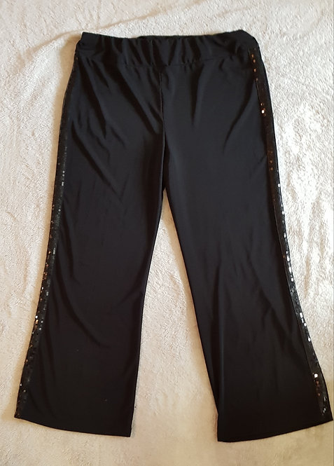 Arlene Phillips. Black dance trousers with sequins. Hand wash only. Size 16.
