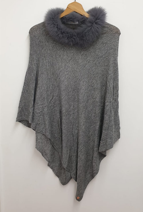 Arkell & Wills grey cashmere poncho.