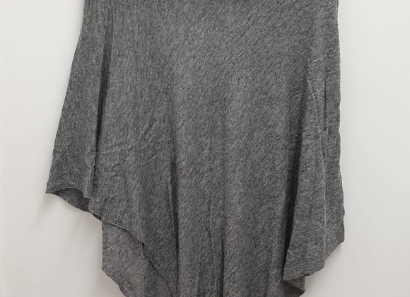Arkell & Wills grey cashmere poncho.