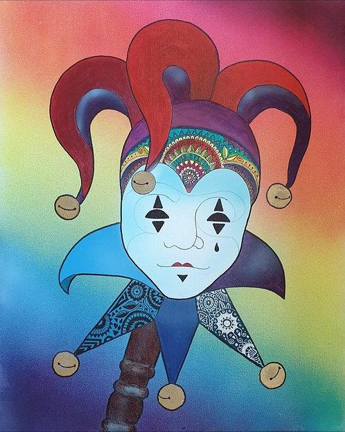 Jester mixed media unframed canvas