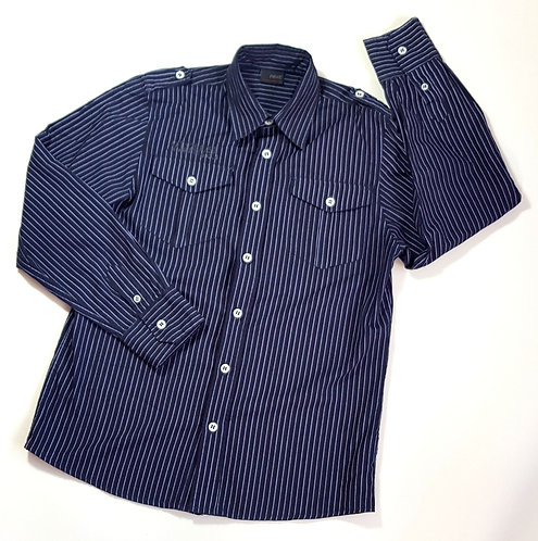 Next navy pinstripe shirt. Age 11yrs