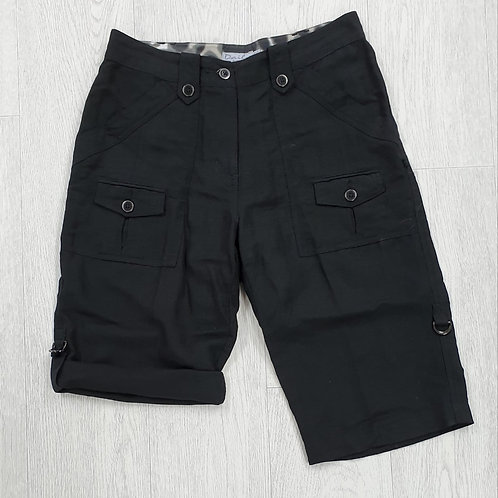 Daily Women black linen shorts. Uk 10