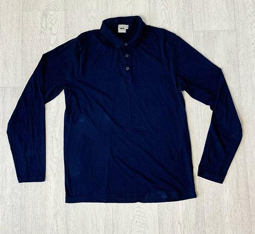🍃Asos navy long sleeve polo top. Size M