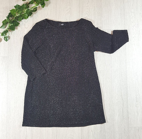 ✴Wallis black sparkly top size XL