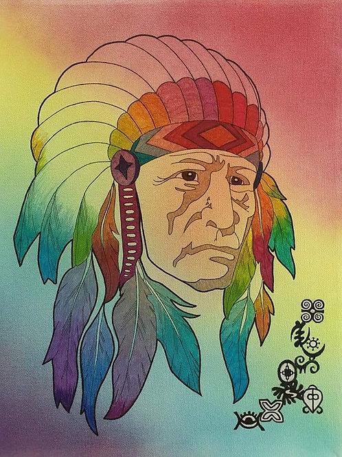 Chief mixed media canvas