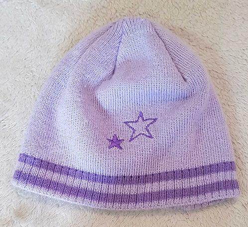 Purple winter hat 2-4yrs