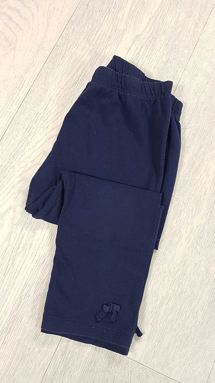 Navy leggings with bows