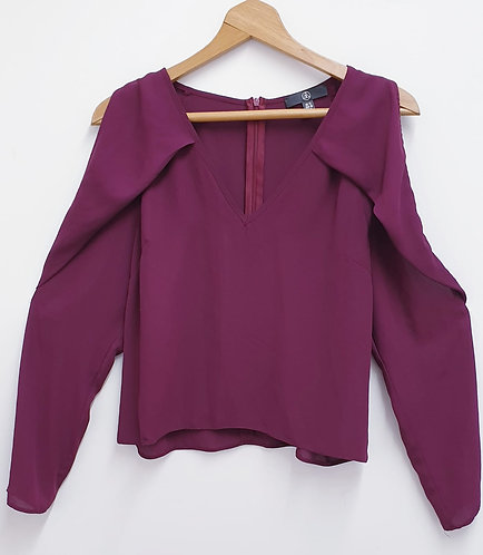 Missguided plum cold shoulder top. Size 12