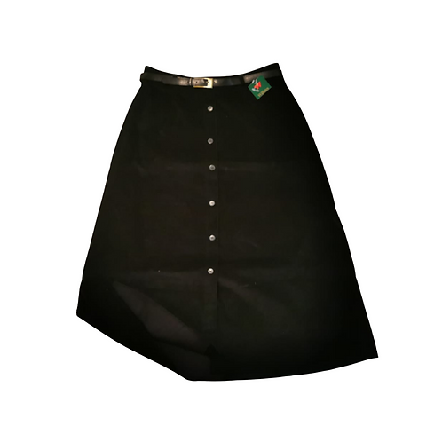 Black chord skirt with belt. Uk 16 NWT