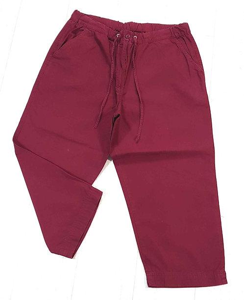 Berkertex burgundy red cropped trousers