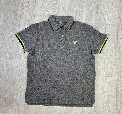 🔘American Eagle grey polo shirt. Size M