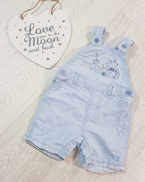 💙George blue dungaree shorts. 3-6months