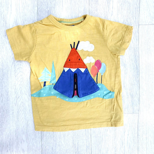 🐦Next yellow Tee-pee T-shirt   1½-2yrs