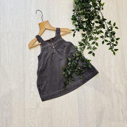 🍁Zara baby soft grey pinafore dress. 18-24m