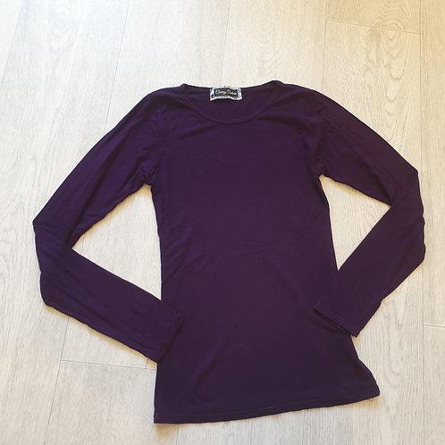 💚Cherry Couture dark purple long sleeve top. 8-9yrs