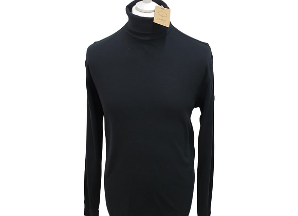 Cotton Traders black roll neck top. 2XL NWT