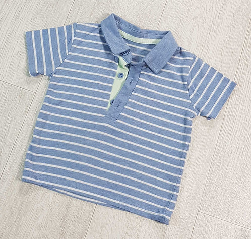 ◾George blue polo shirt. 3-6months NWOT