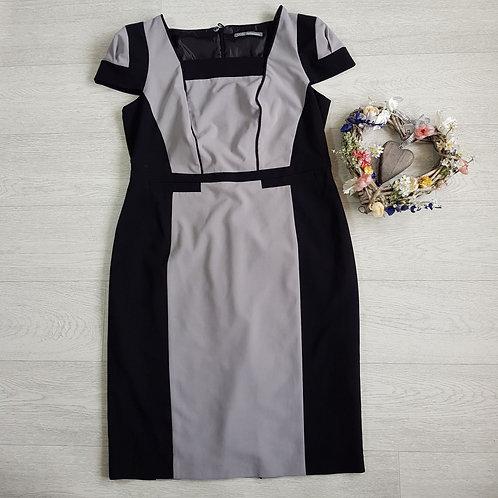 M&S grey mix dress. Size 16
