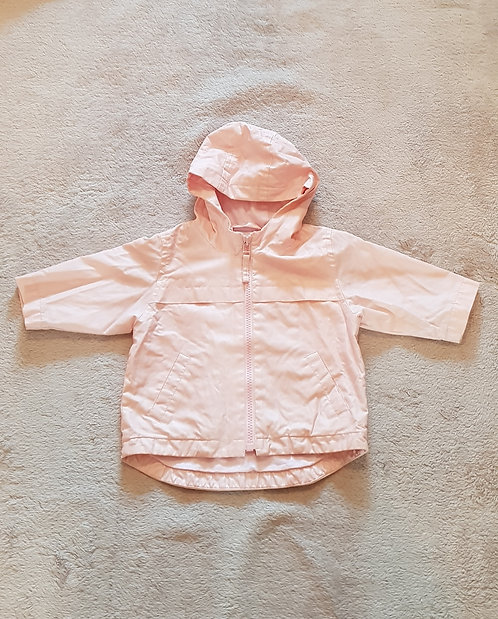 Next. Pale pink lined raincoat. 3-6 months.