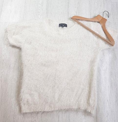 🔵Originals cream short sleeve knit top size 16