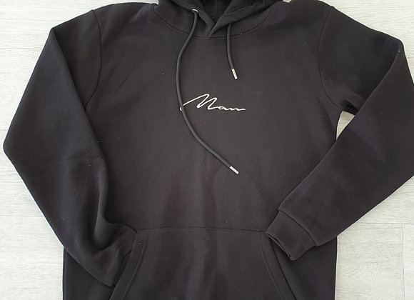 Boohoo man black hoody. Size S
