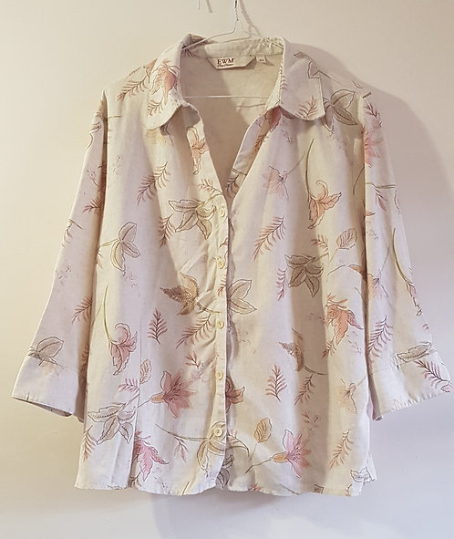 EDINBURGH WOOLLEN MILL Cream blouse. Size 20