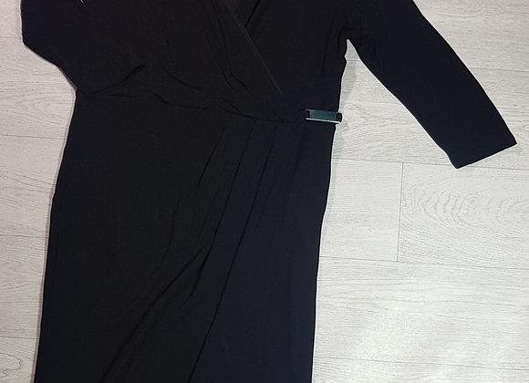 Coast black wrap style dress. Size 18