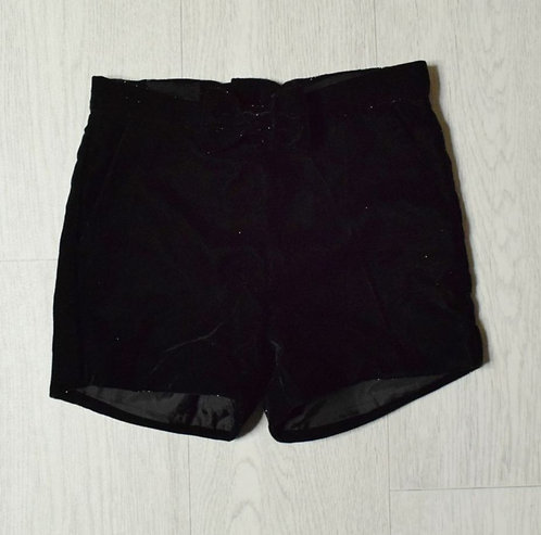 H&M black sparkly shorts 7-8yrs