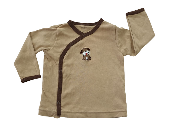 Carters brown long sleeve wrap front top. 6months