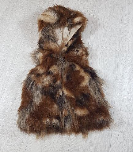 🐠Next girls brown faux fur body warmer size 4 years
