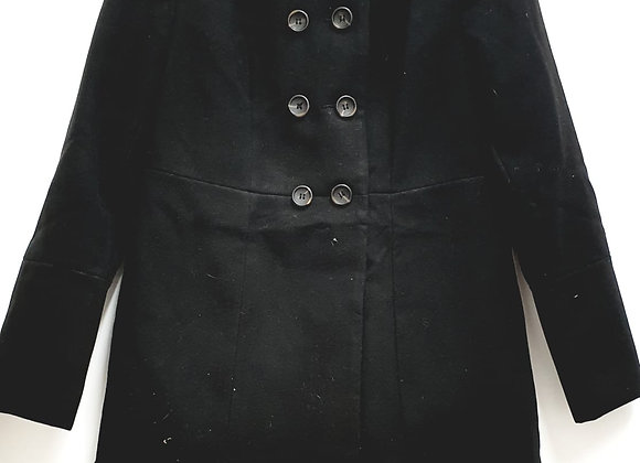 Black winter coat.  Uk 10-12