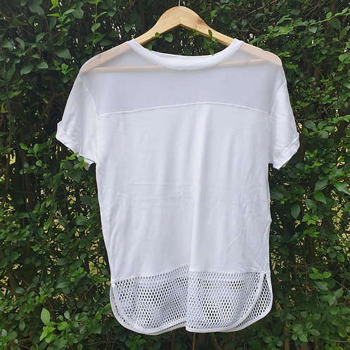 🌼New Like white mesh top. Size S