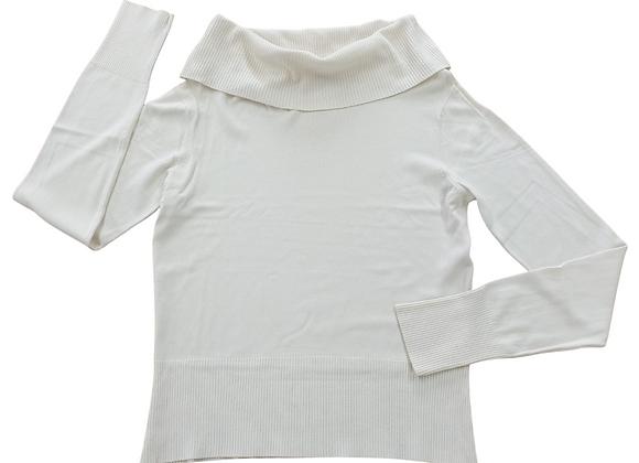 Coast ivory roll neck sweater. Uk 16