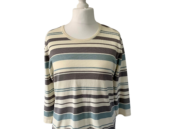 Cotswold Collections striped sweater. Size L
