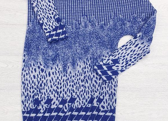 Bodyform blue fleece soft off the shoulder jumper dress. Euro 40