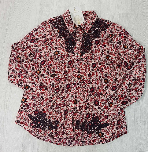GoodWill embroidered blouse. Size L